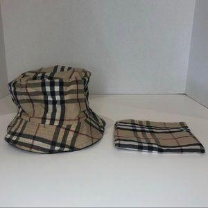 Burberry Classic Plaid Reversible Bucket Hat